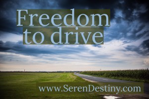 freedom to drive text image