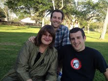tom andrew and me at his day-before-wedding afternoon in the park