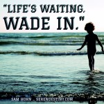 Life's Waiting. Wade in.