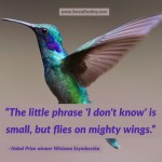 "Day Right Quote #15:  The Phrase ""I DON'T KNOW"" Is Small, But Flies on Mighty Wings"