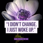 I Didn't Change, I Just Woke Up